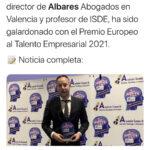 isde law bussines school pedro albares premio europeo