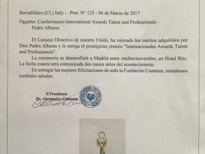 Albares Abogados Valencia, Premio Fundación Costanza