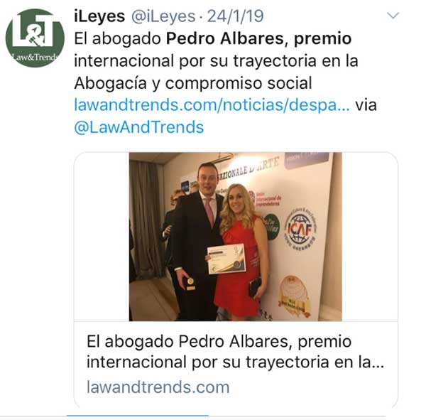 Albares Abogados en Law and Trends