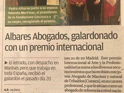 Albares Abogados, Diario Levante