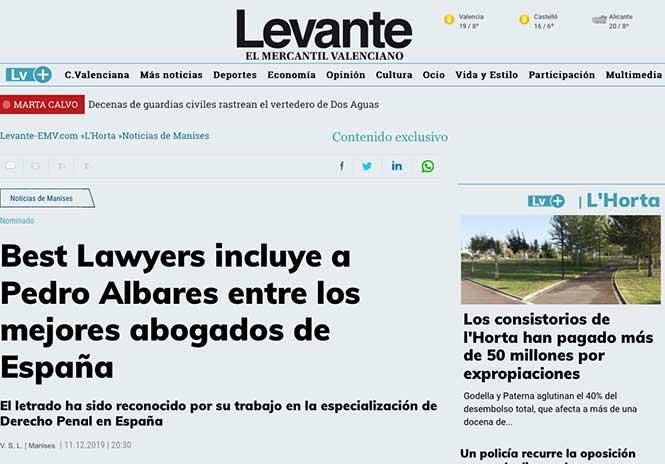 Pedro Albares en Levante-EMV