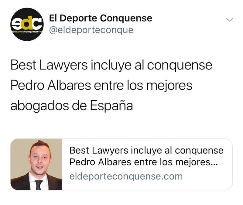 Albares Abogados en El Deporte Conquense