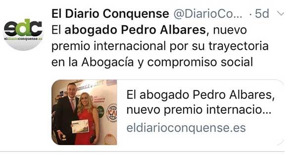 Albares Abogados en El Diario Conquense