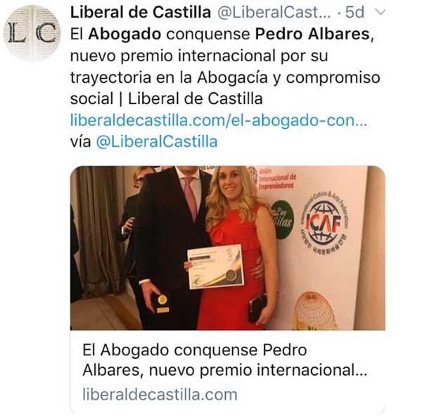 Albares Abogados en El Liberal de Castilla